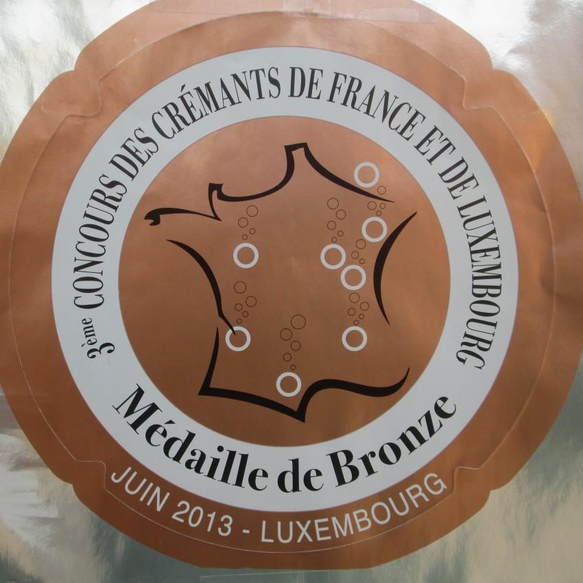 Concours_des_Cremants_2013 médaille de bronze pour roland van hecke producteur de crémant de bourgogne