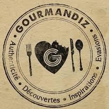 logo salon Gourmandiz Bruxelles domaine Roland VAN HECKE présent Vins et Crémants châtillonnais
